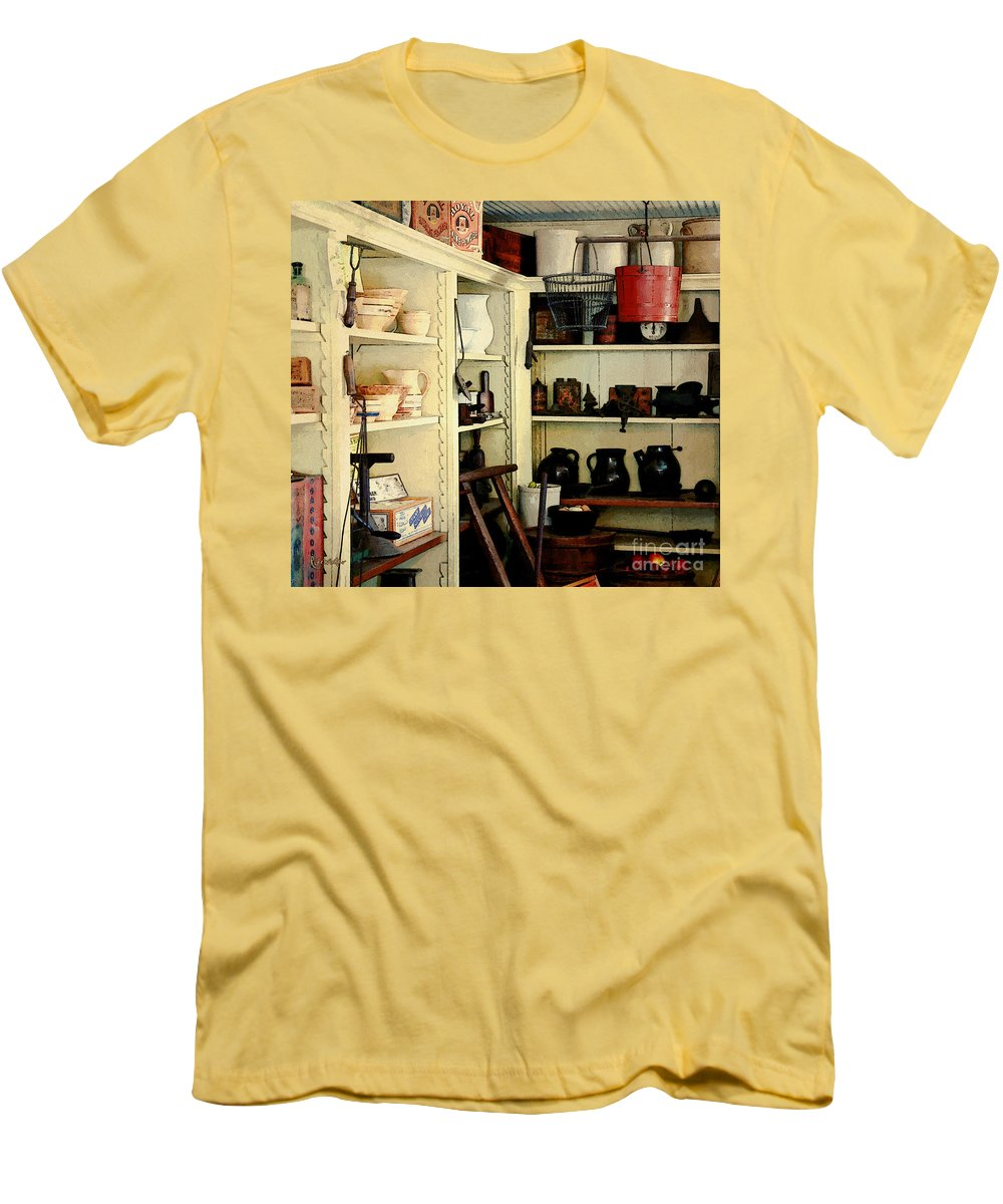 Antiques Men's T-Shirt (Athletic Fit) featuring the painting Needful Things by RC DeWinter