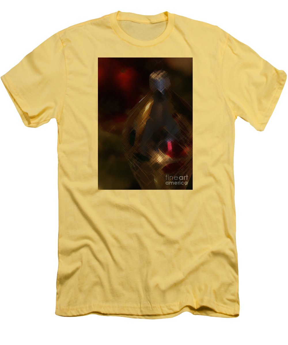 Christmas Men's T-Shirt (Athletic Fit) featuring the photograph Silver And Gold by Linda Shafer