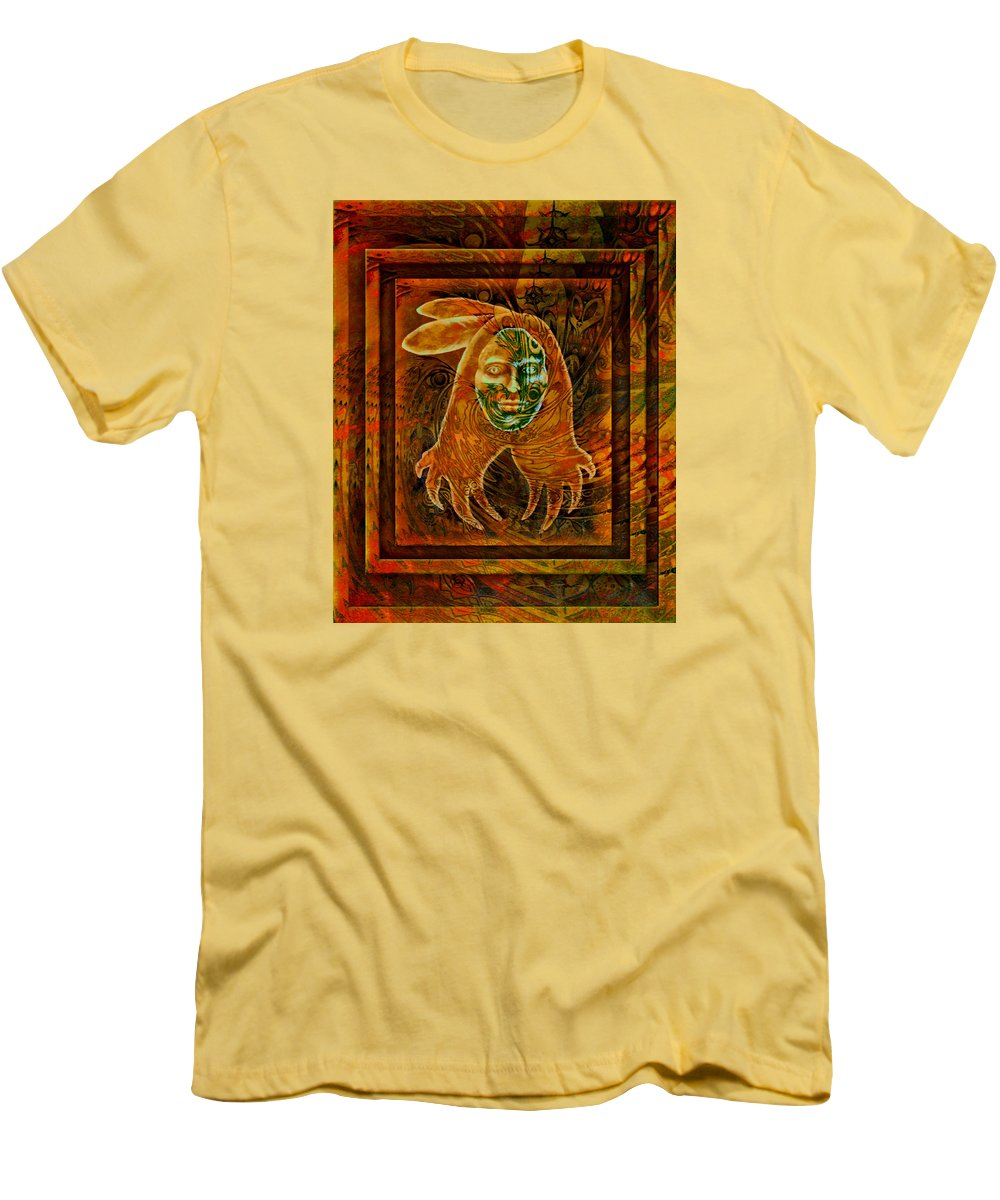Native American Men's T-Shirt (Athletic Fit) featuring the painting Spirit Fire II by Kevin Chasing Wolf Hutchins