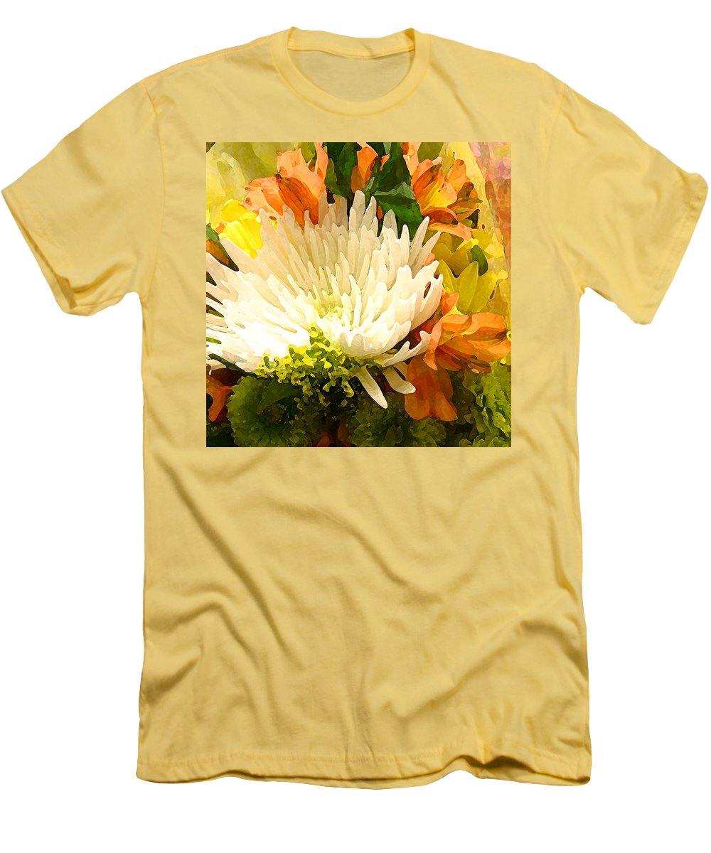Roses Men's T-Shirt (Athletic Fit) featuring the painting Spring Flower Burst by Amy Vangsgard