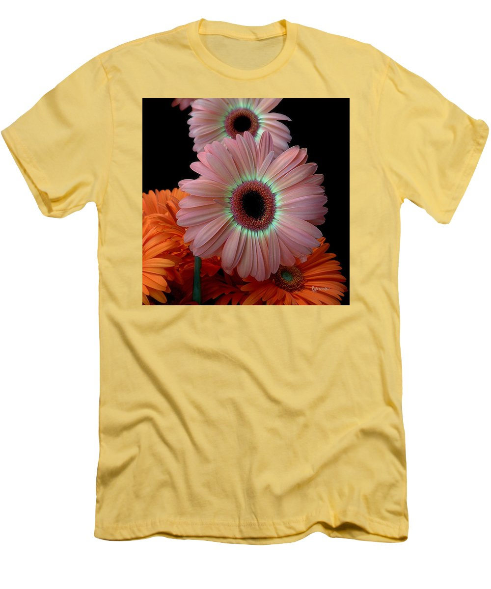 Gerberas Men's T-Shirt (Athletic Fit) featuring the photograph Third Place by RC DeWinter