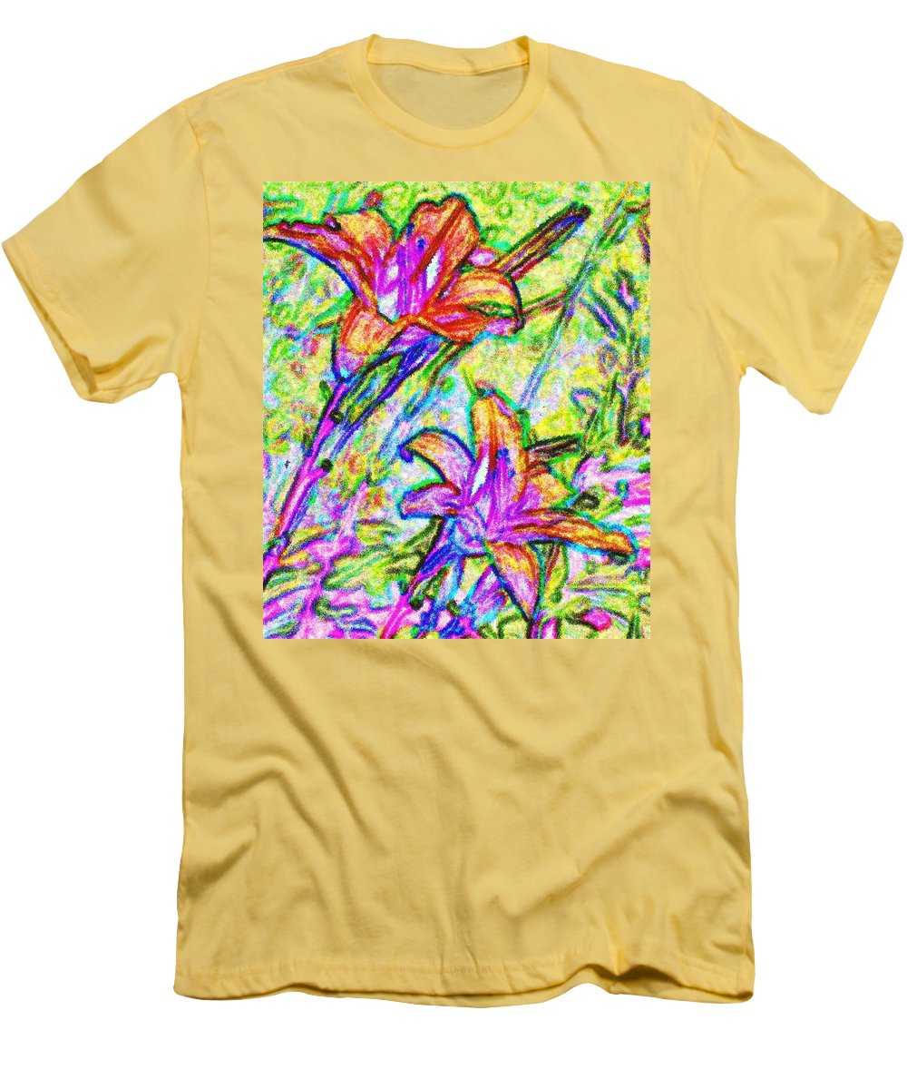 Tiger Men's T-Shirt (Athletic Fit) featuring the photograph Tiger Lillies by Ian MacDonald