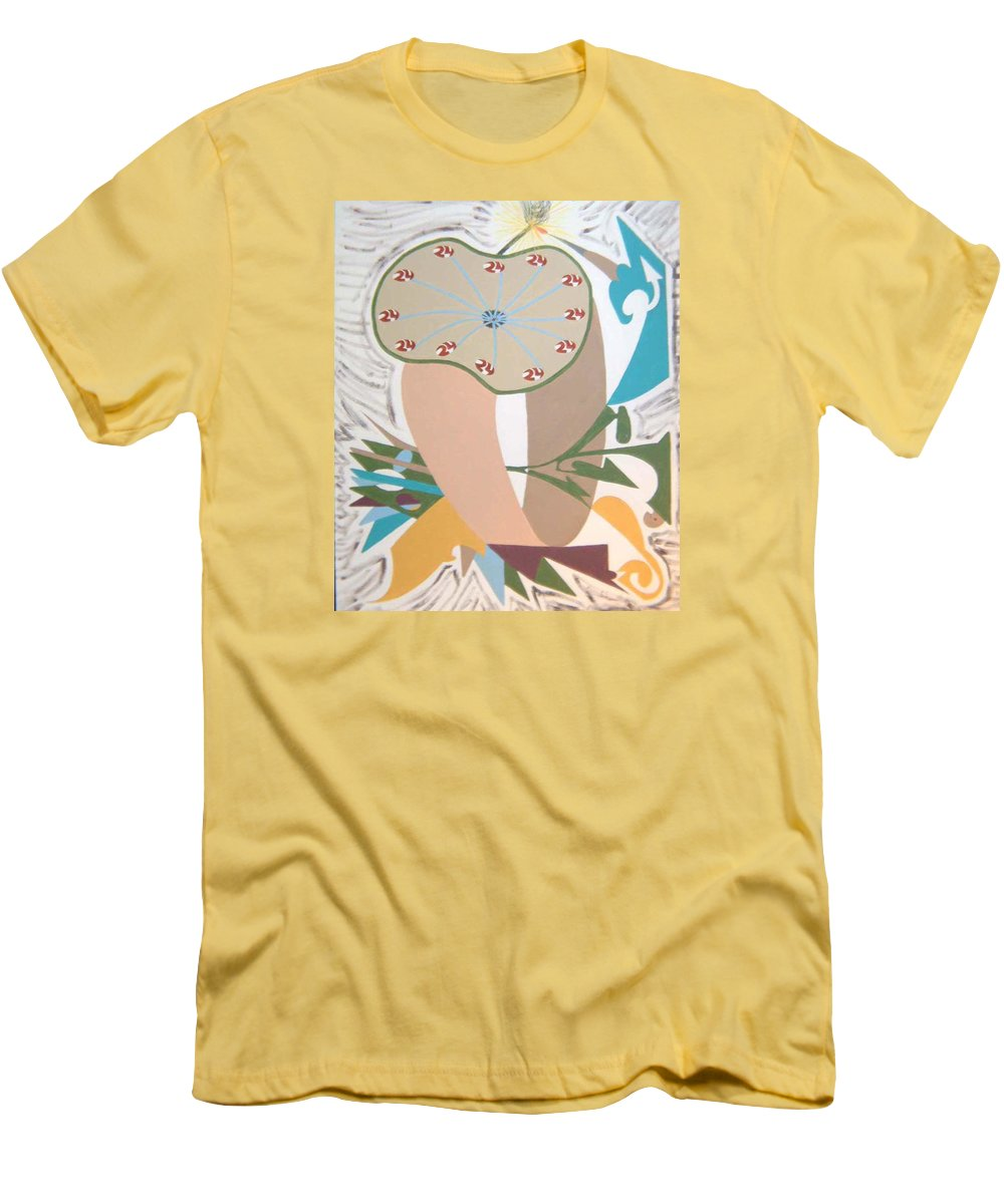 Abstract Men's T-Shirt (Athletic Fit) featuring the painting Times Up by Dean Stephens