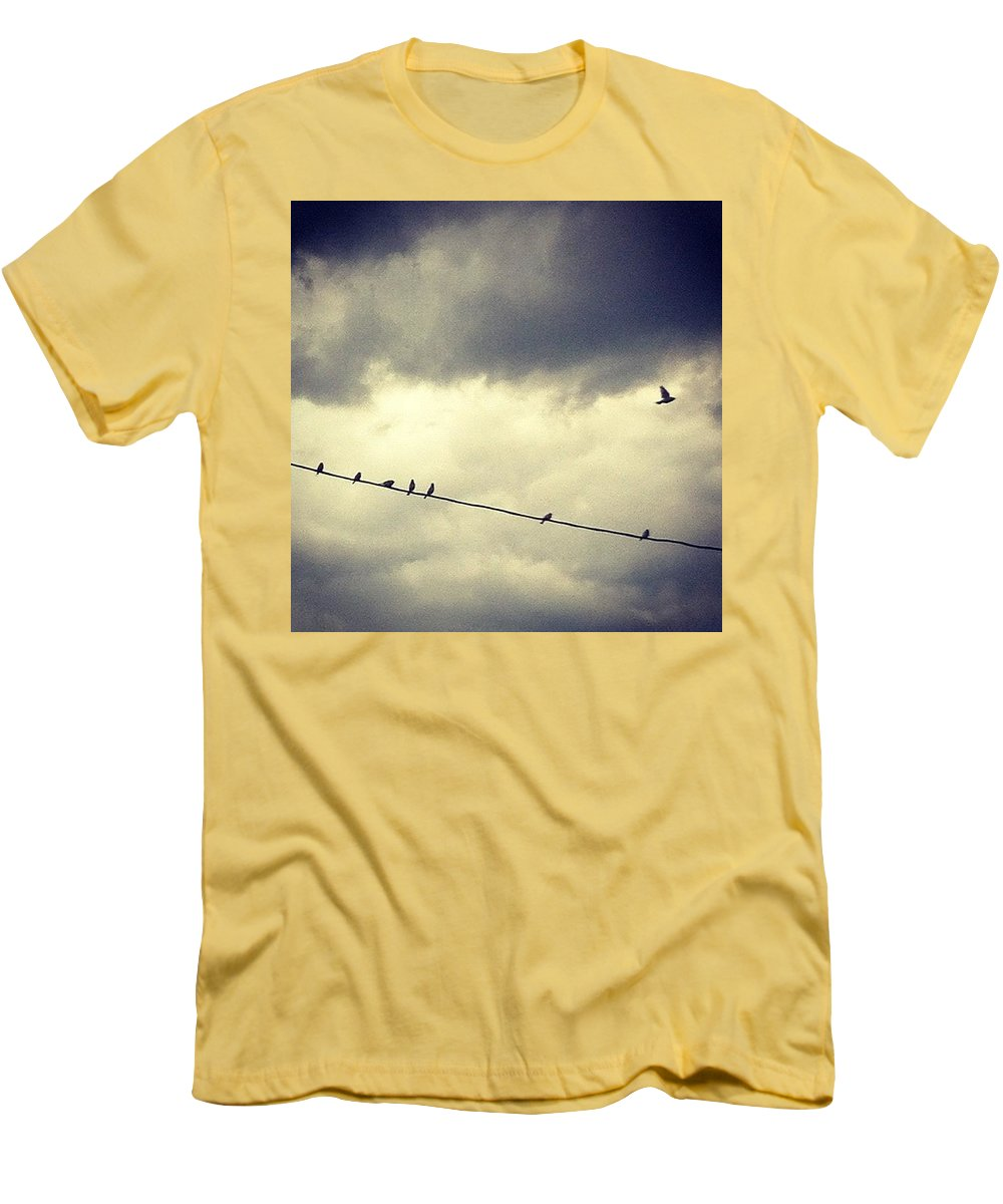 Men's T-Shirt (Slim Fit) featuring the photograph Da Birds by Katie Cupcakes