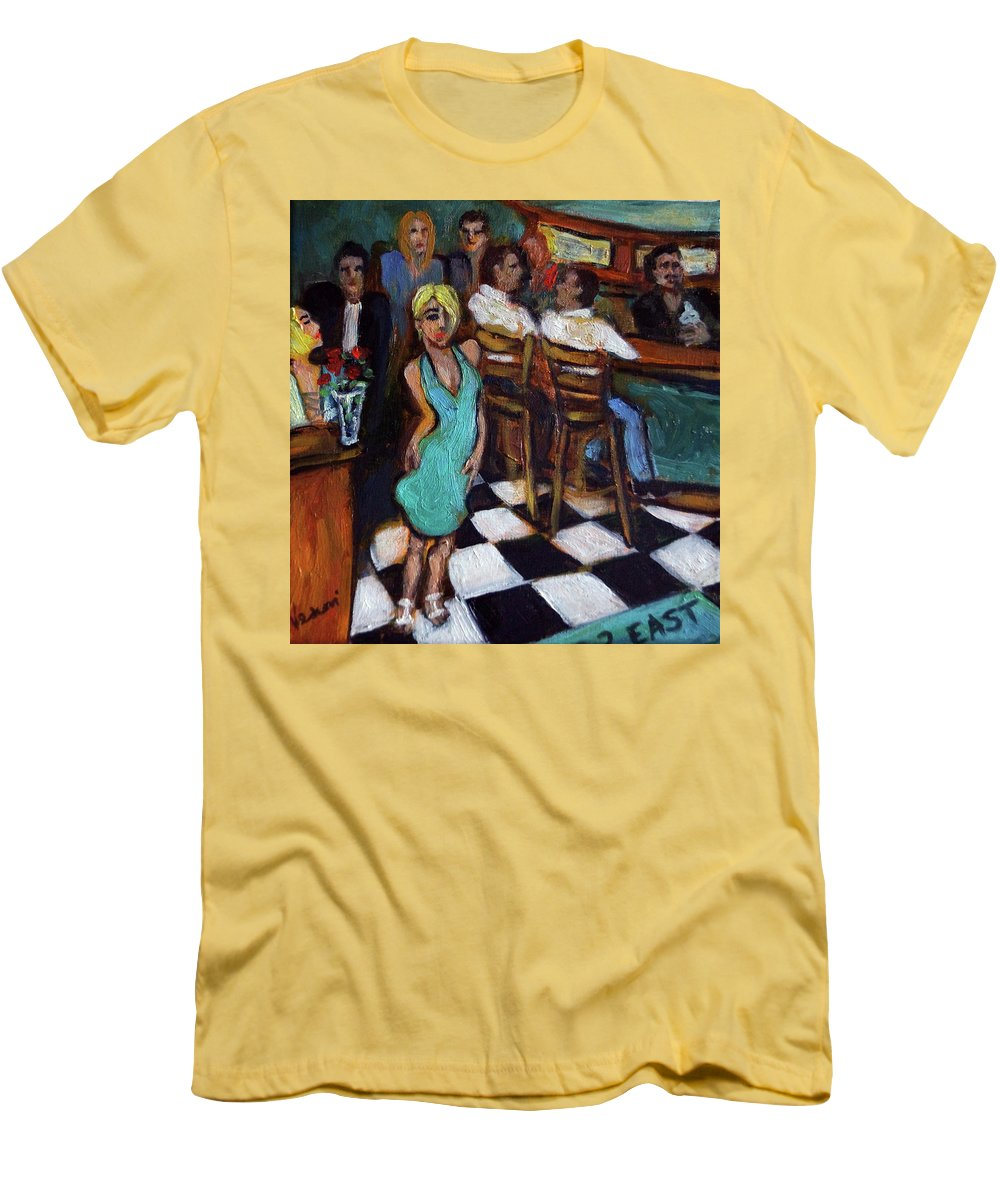 Restaurant Men's T-Shirt (Athletic Fit) featuring the painting 32 East by Valerie Vescovi