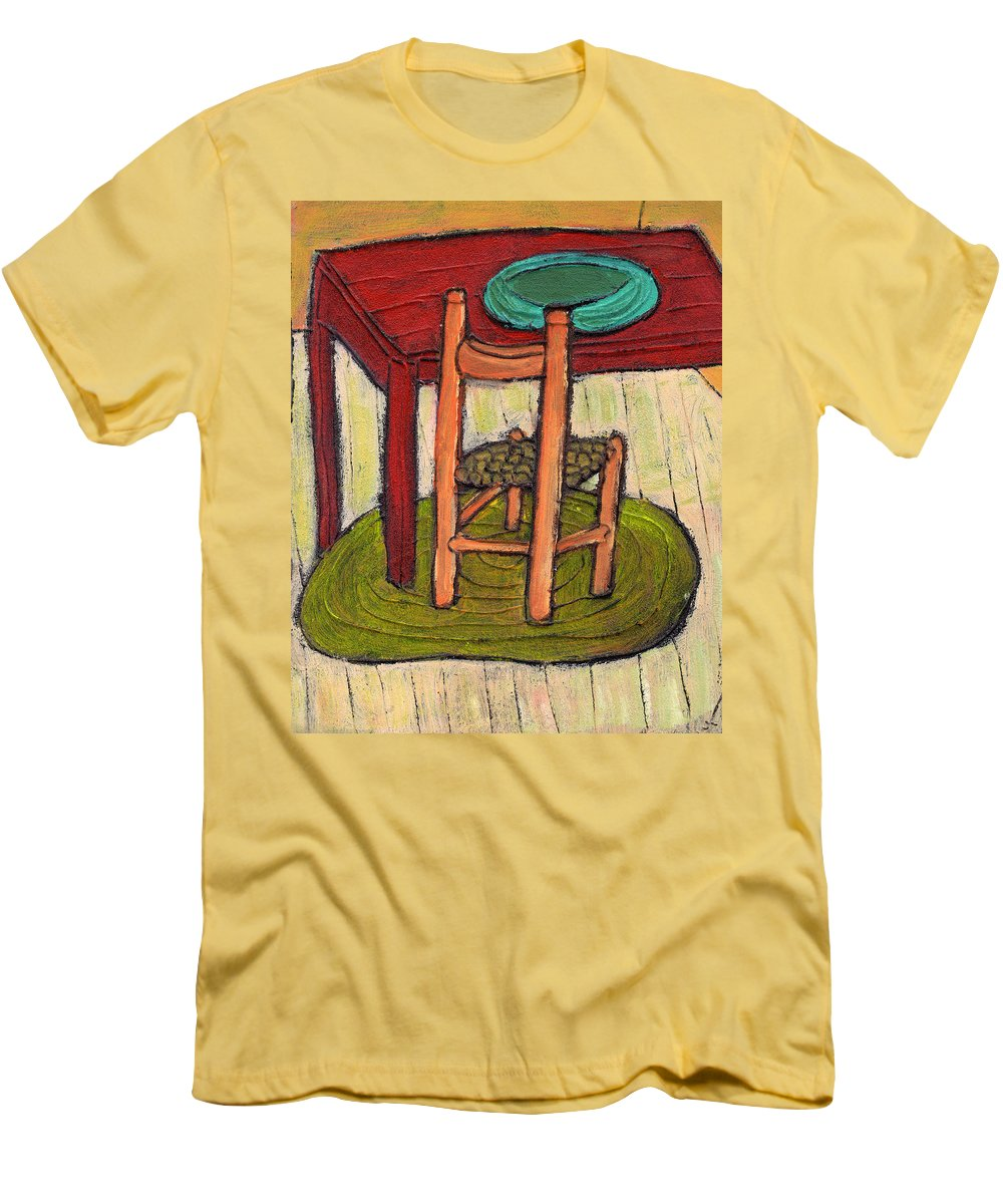 Kitchen Men's T-Shirt (Athletic Fit) featuring the painting Alone by Wayne Potrafka