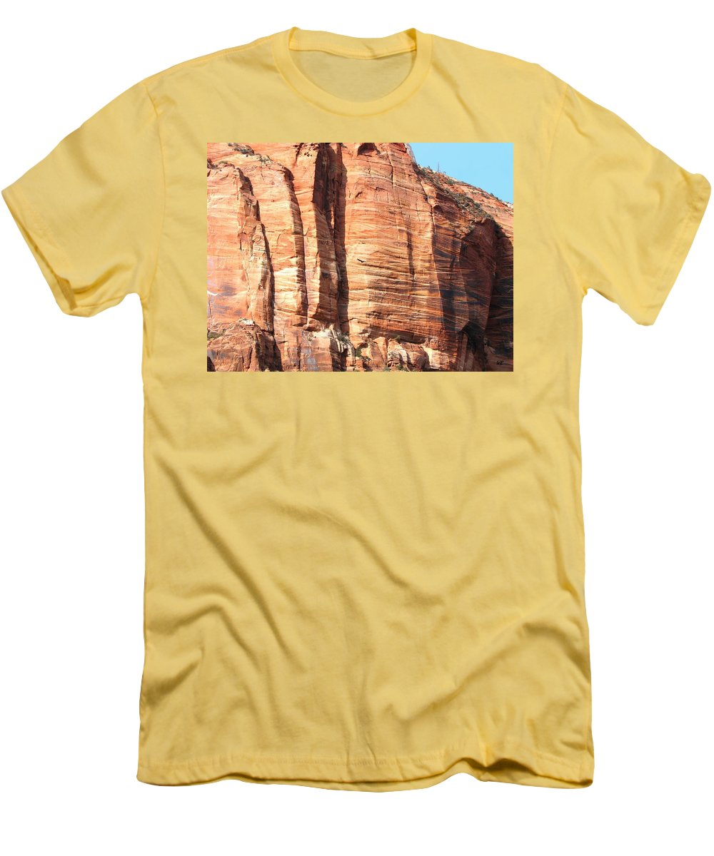An Eagle Soars Men's T-Shirt (Athletic Fit) featuring the photograph An Eagle Soars by Will Borden