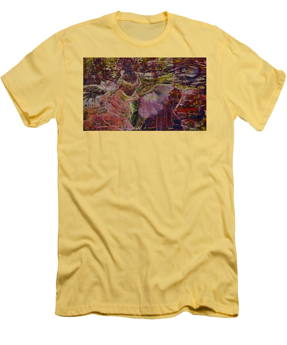 Portrait Men's T-Shirt (Athletic Fit) featuring the painting April 29th. by Peggy Blood