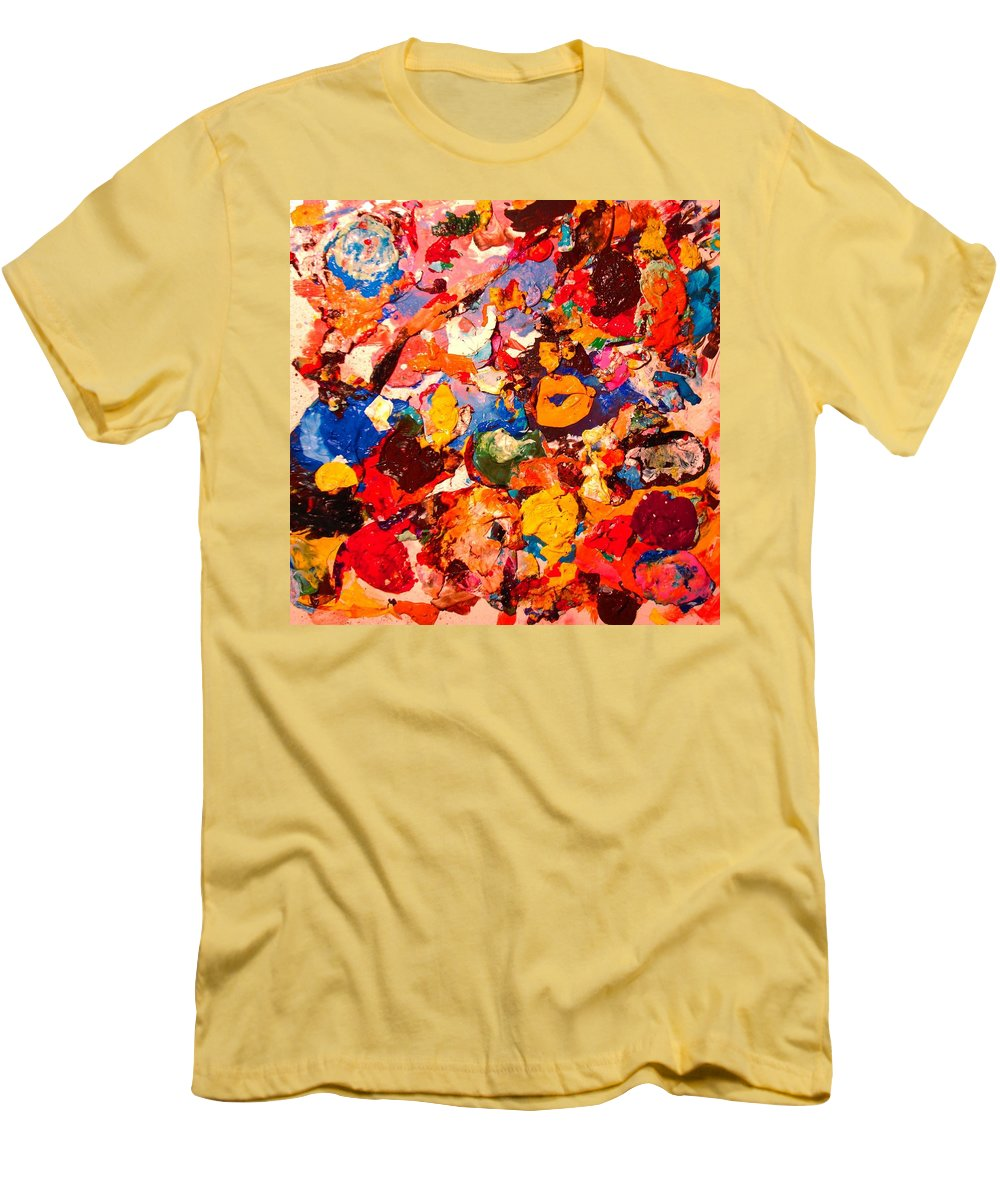 Artist Palette Men's T-Shirt (Athletic Fit) featuring the painting Artist Palette by Natalie Holland