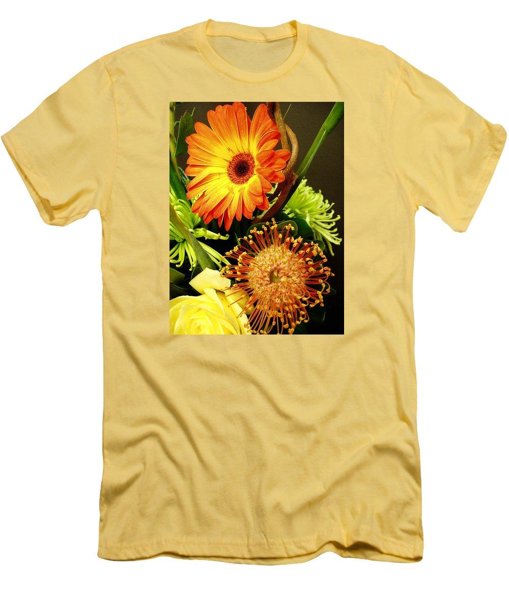 Autumn Men's T-Shirt (Athletic Fit) featuring the photograph Autumn Flower Arrangement by Nancy Mueller