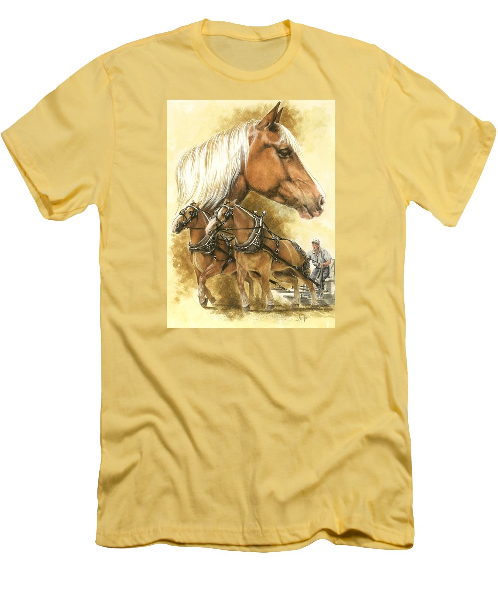 Art Men's T-Shirt (Athletic Fit) featuring the mixed media Belgian by Barbara Keith