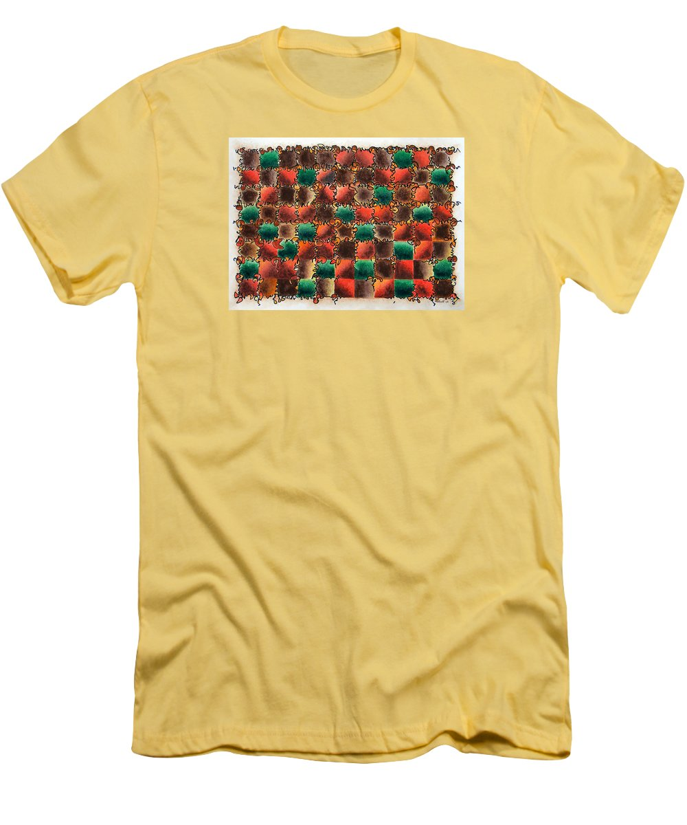 Abstract Men's T-Shirt (Athletic Fit) featuring the painting Black Forest Cake by Dave Martsolf