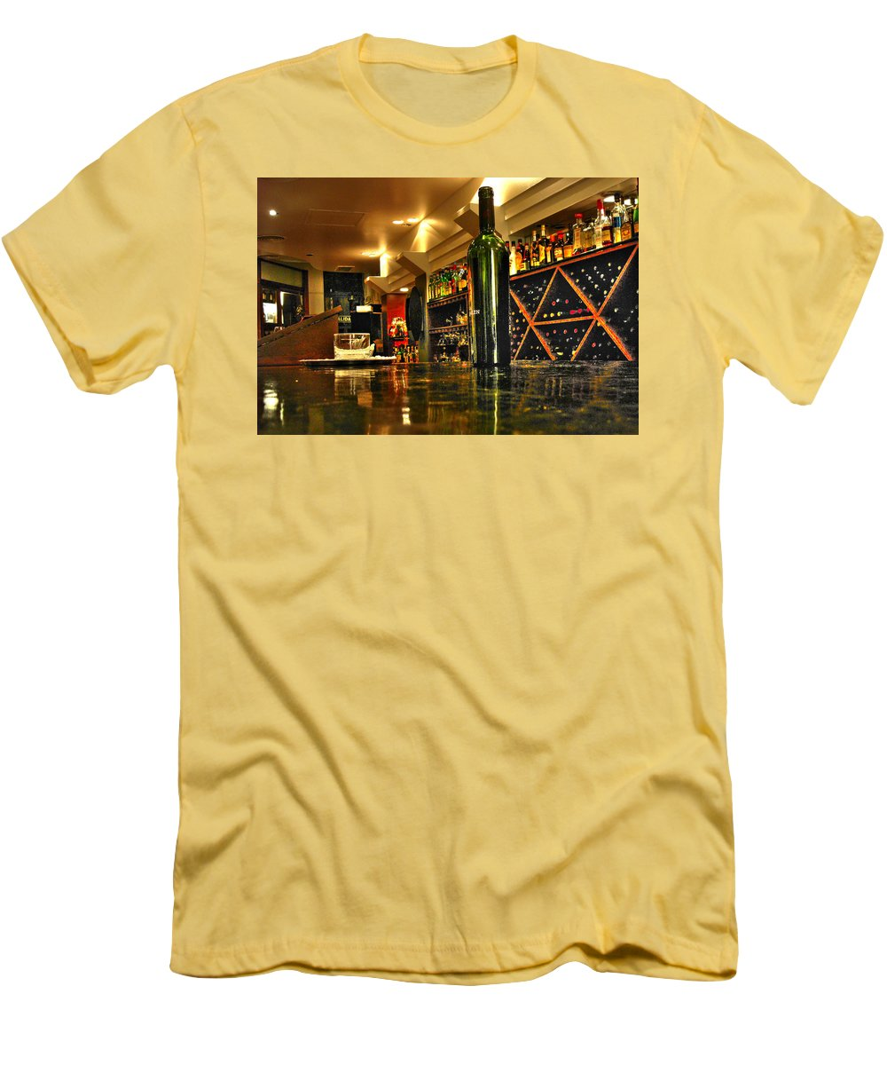 Wine Men's T-Shirt (Athletic Fit) featuring the photograph Bottles Of Wine by Francisco Colon