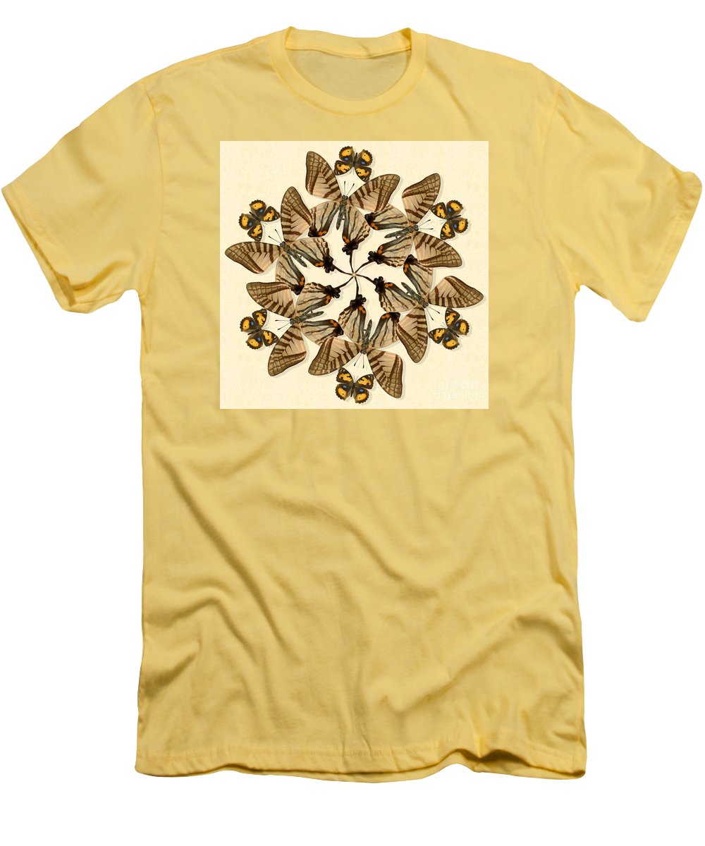 Butterfly Men's T-Shirt (Athletic Fit) featuring the photograph Butterfly Wheel Dance by Melissa A Benson