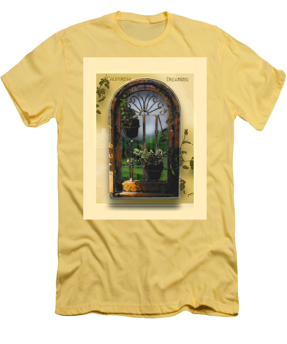 Abstract Men's T-Shirt (Athletic Fit) featuring the photograph California Dreamin by Karen W Meyer