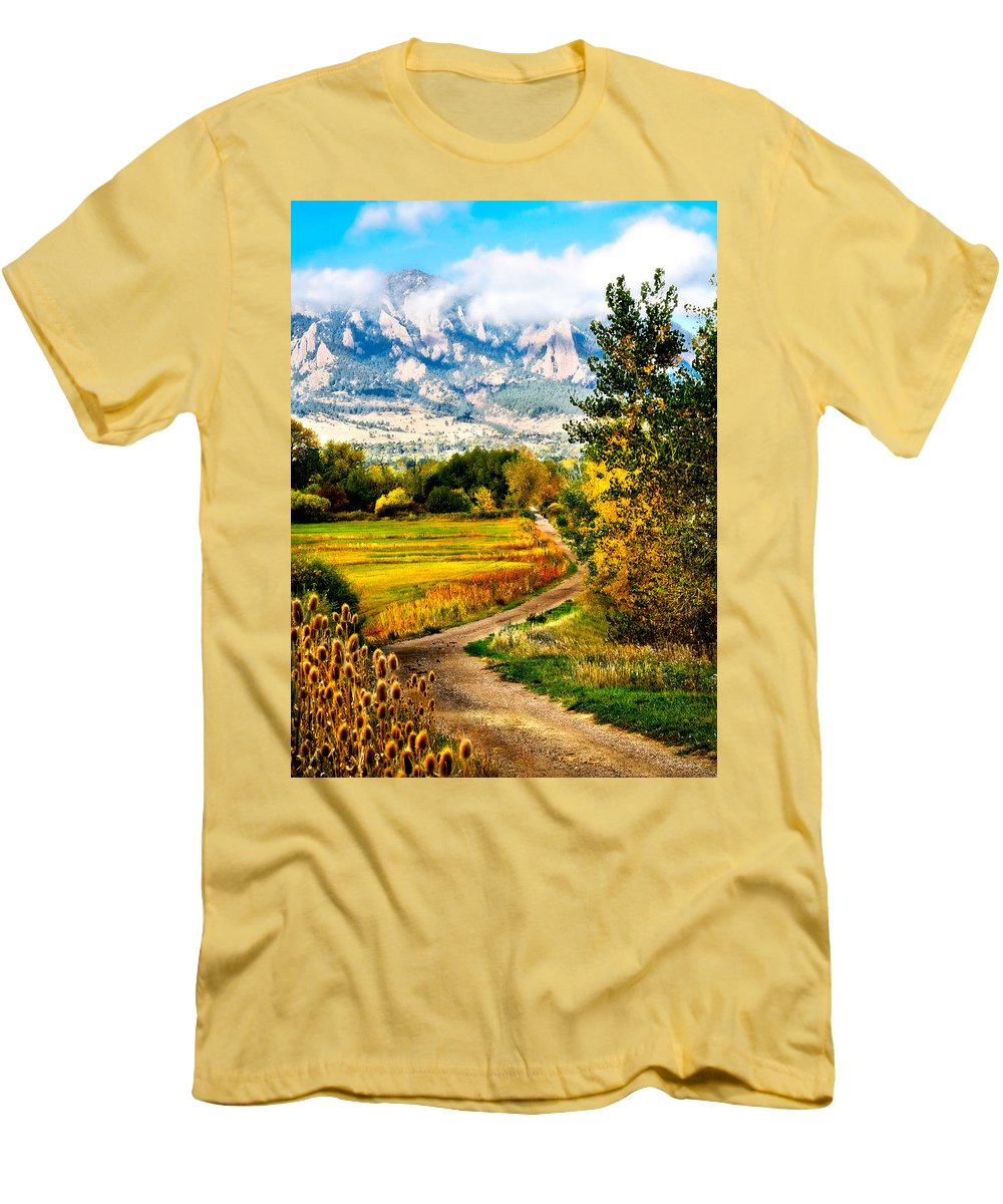 Americana Men's T-Shirt (Athletic Fit) featuring the photograph Clearly Colorado by Marilyn Hunt