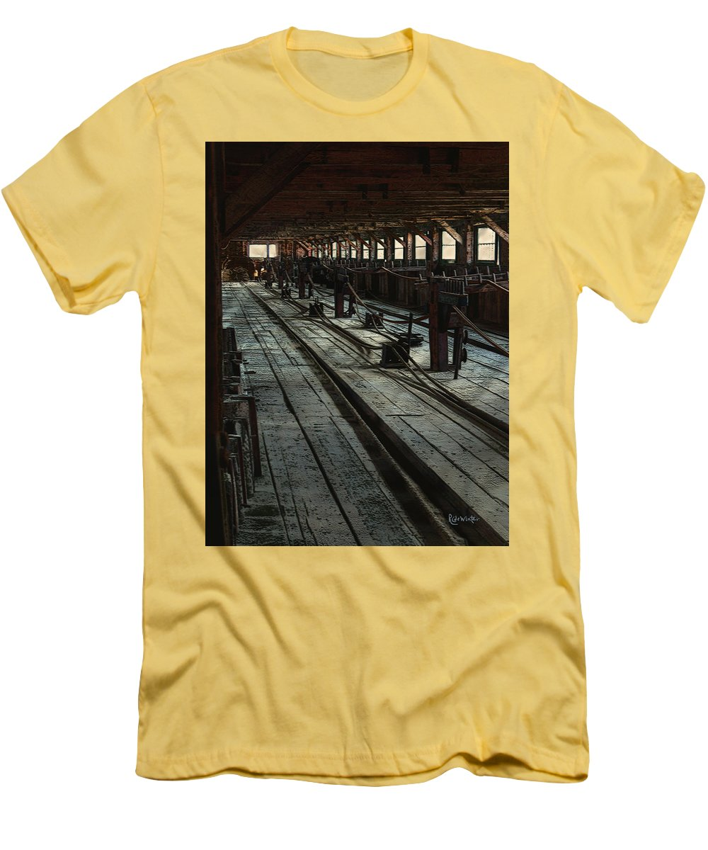 Historical Men's T-Shirt (Athletic Fit) featuring the painting Consigned To Hell by RC deWinter