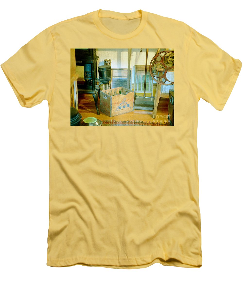 Kitchen Men's T-Shirt (Athletic Fit) featuring the painting Country Kitchen Sunshine II by RC deWinter