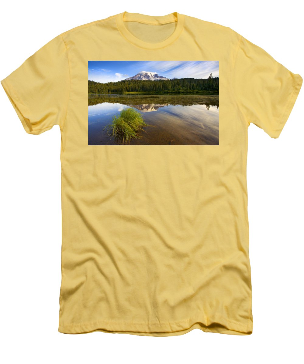 Lake Men's T-Shirt (Athletic Fit) featuring the photograph Crystal Clear by Mike Dawson