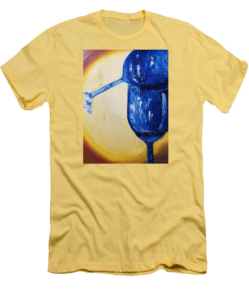 Glass Men's T-Shirt (Athletic Fit) featuring the painting Crystal Spotlight by Lauren Luna
