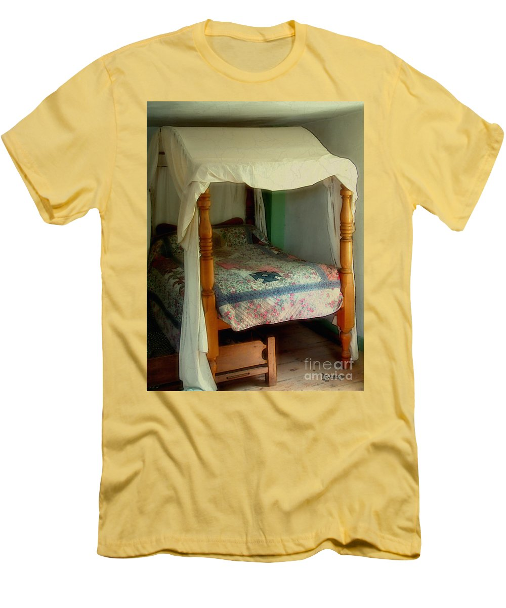Bed Men's T-Shirt (Athletic Fit) featuring the painting Delft Light, New England by RC DeWinter
