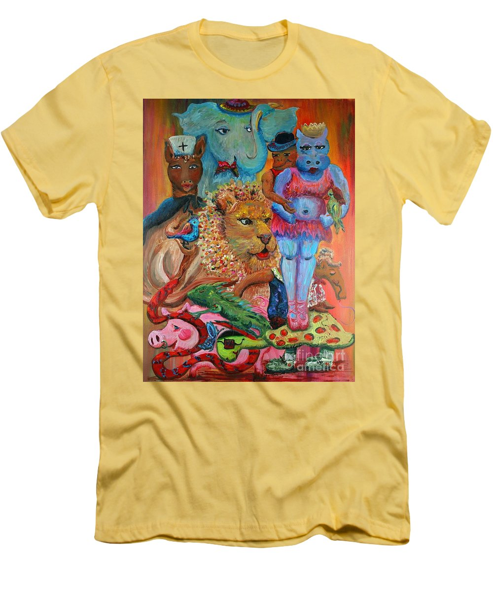 Diversity Men's T-Shirt (Athletic Fit) featuring the painting Diversity by Nadine Rippelmeyer