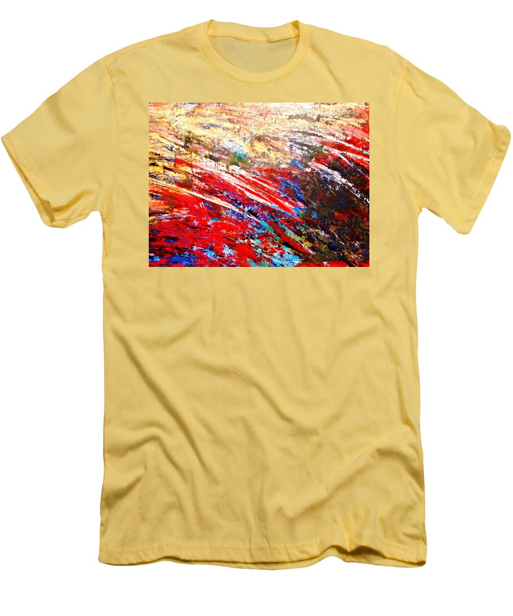 Expressionism Men's T-Shirt (Athletic Fit) featuring the painting Emotional Explosion by Natalie Holland