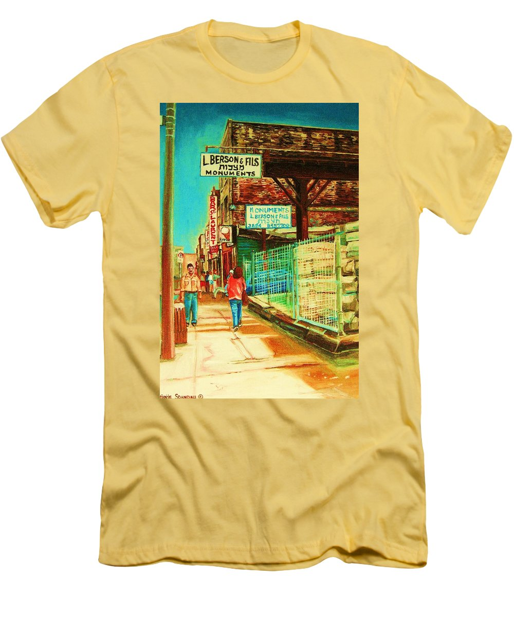 Berson Monuments Men's T-Shirt (Athletic Fit) featuring the painting End Of Days by Carole Spandau