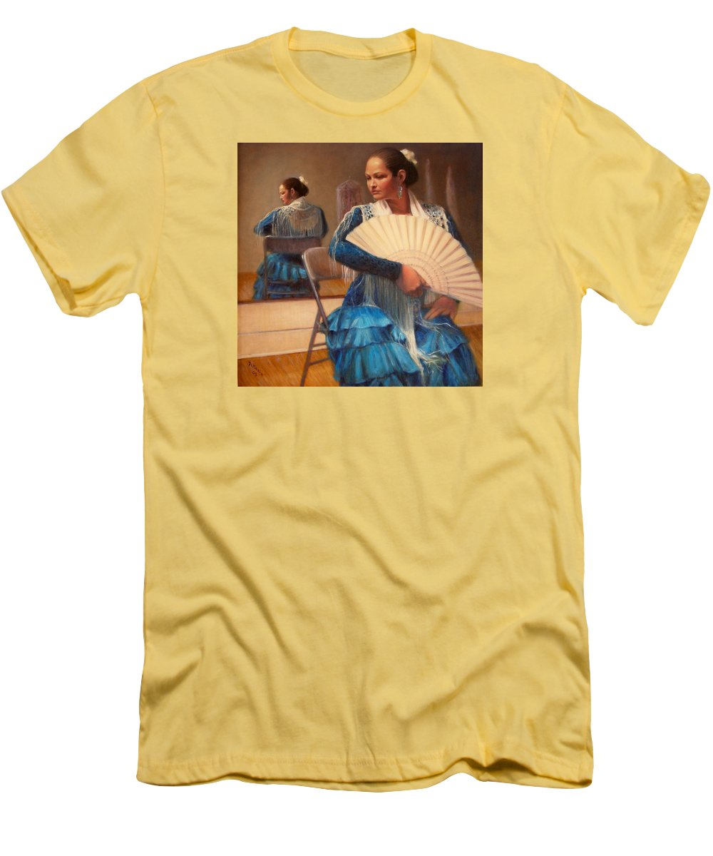 Realism Men's T-Shirt (Athletic Fit) featuring the painting Flamenco 1 by Donelli DiMaria