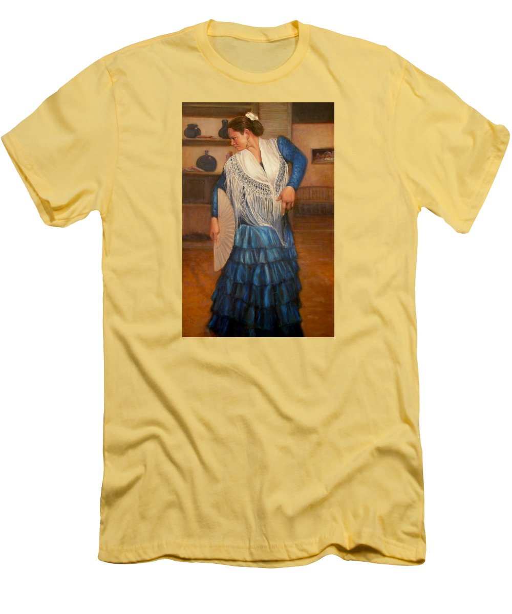 Realism Men's T-Shirt (Athletic Fit) featuring the painting Flamenco 2 by Donelli DiMaria