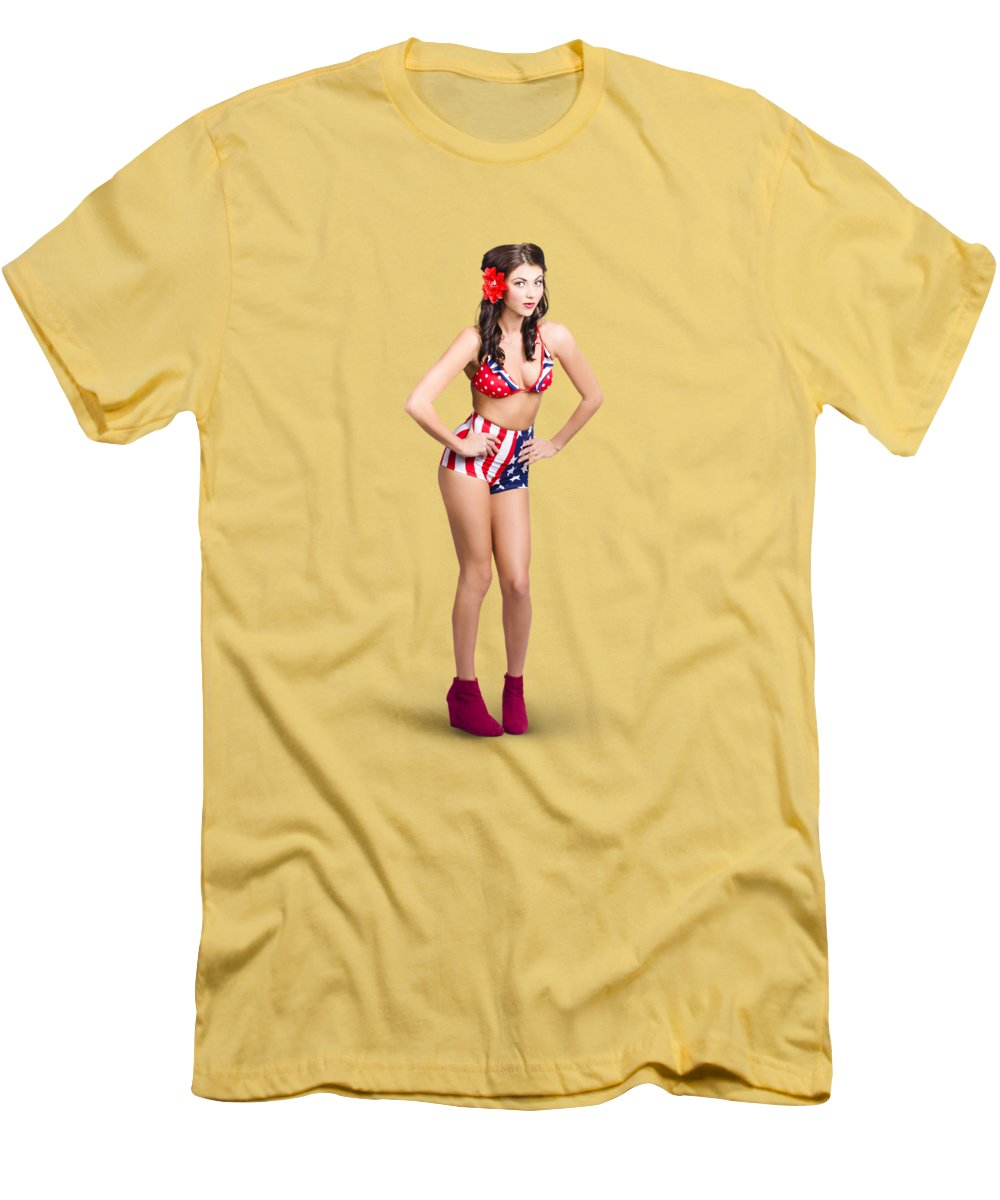 Full Body Pin-up Girl. American Retro Style T-Shirt for Sale by ...
