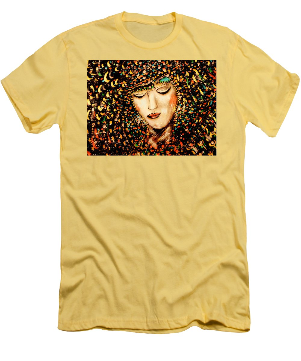 Goddess Men's T-Shirt (Athletic Fit) featuring the painting Goddess by Natalie Holland