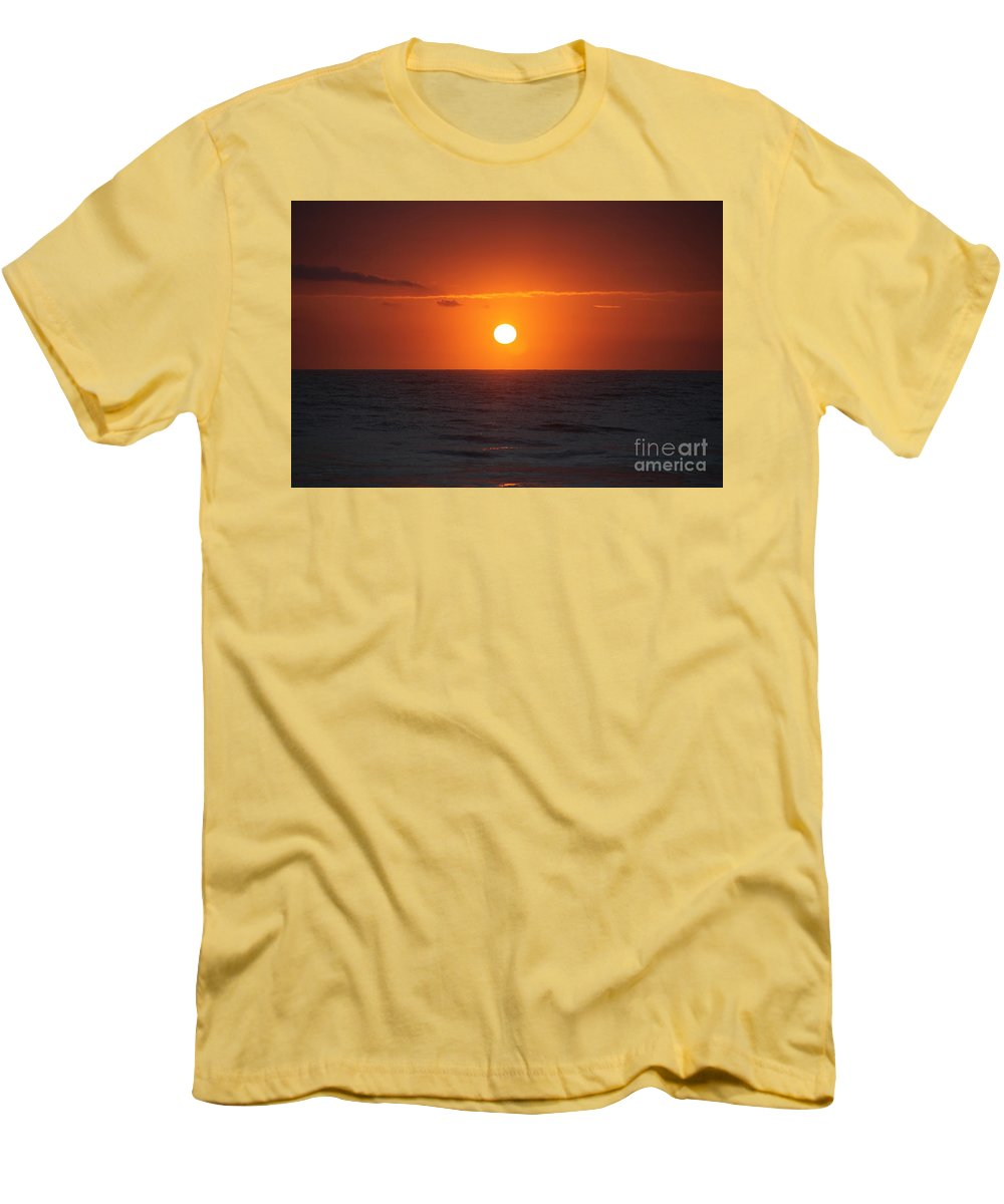 Sunrise Men's T-Shirt (Athletic Fit) featuring the photograph Hawaiian Sunrise by Nadine Rippelmeyer