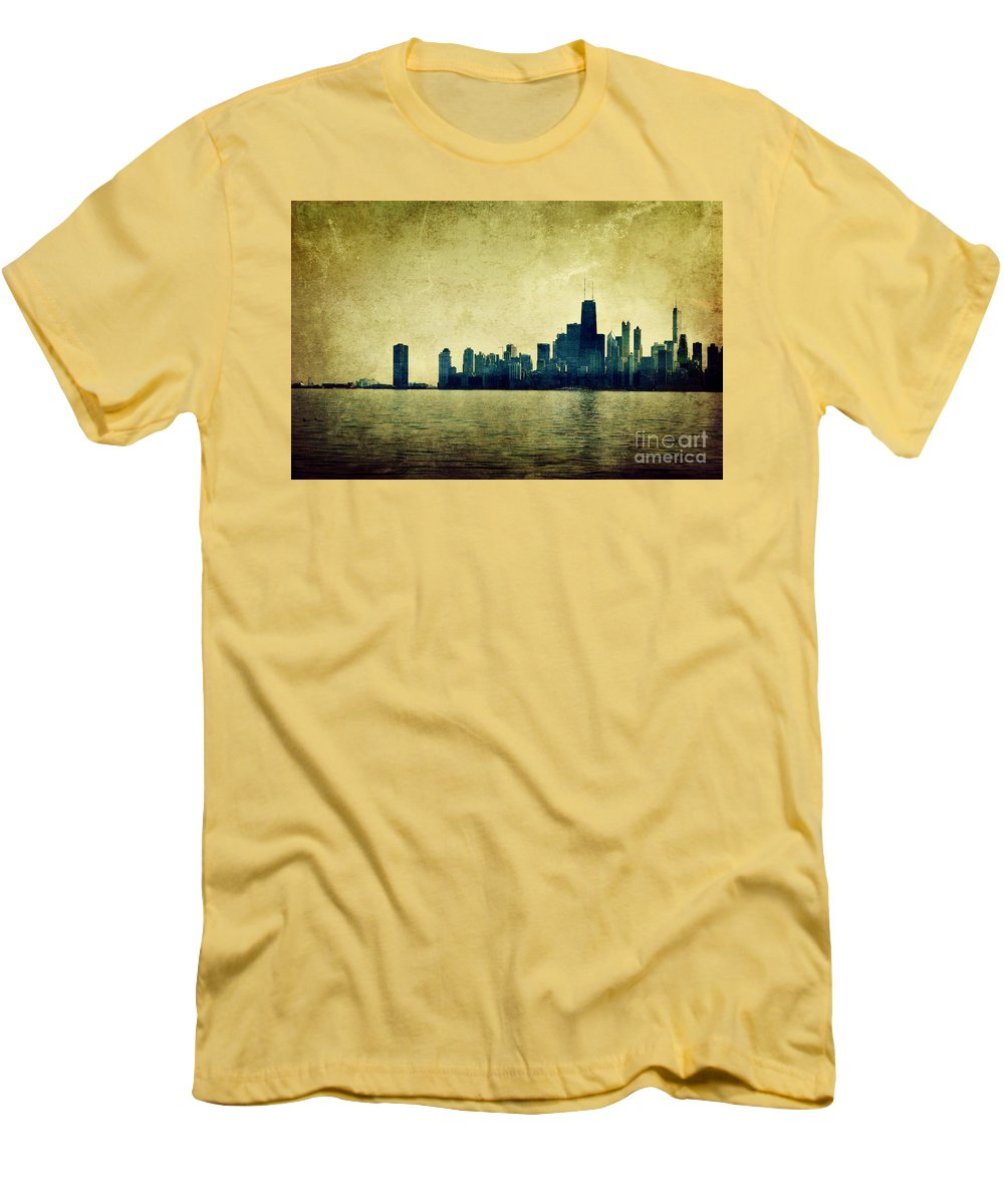 Dipasquale Men's T-Shirt (Athletic Fit) featuring the photograph I Will Find You Down The Road Where We Met That Night by Dana DiPasquale
