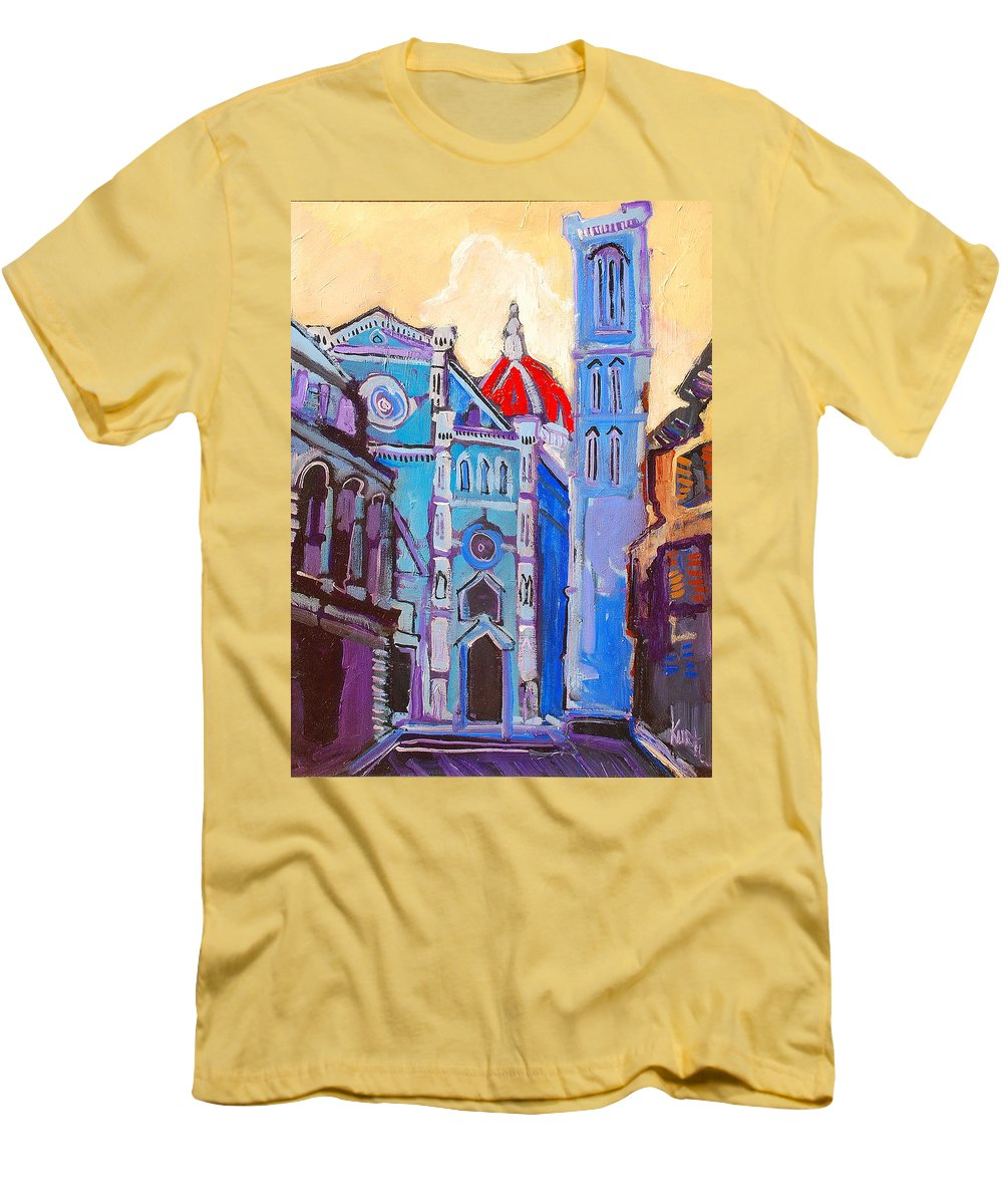 Florence Men's T-Shirt (Athletic Fit) featuring the painting In The Middle Of by Kurt Hausmann