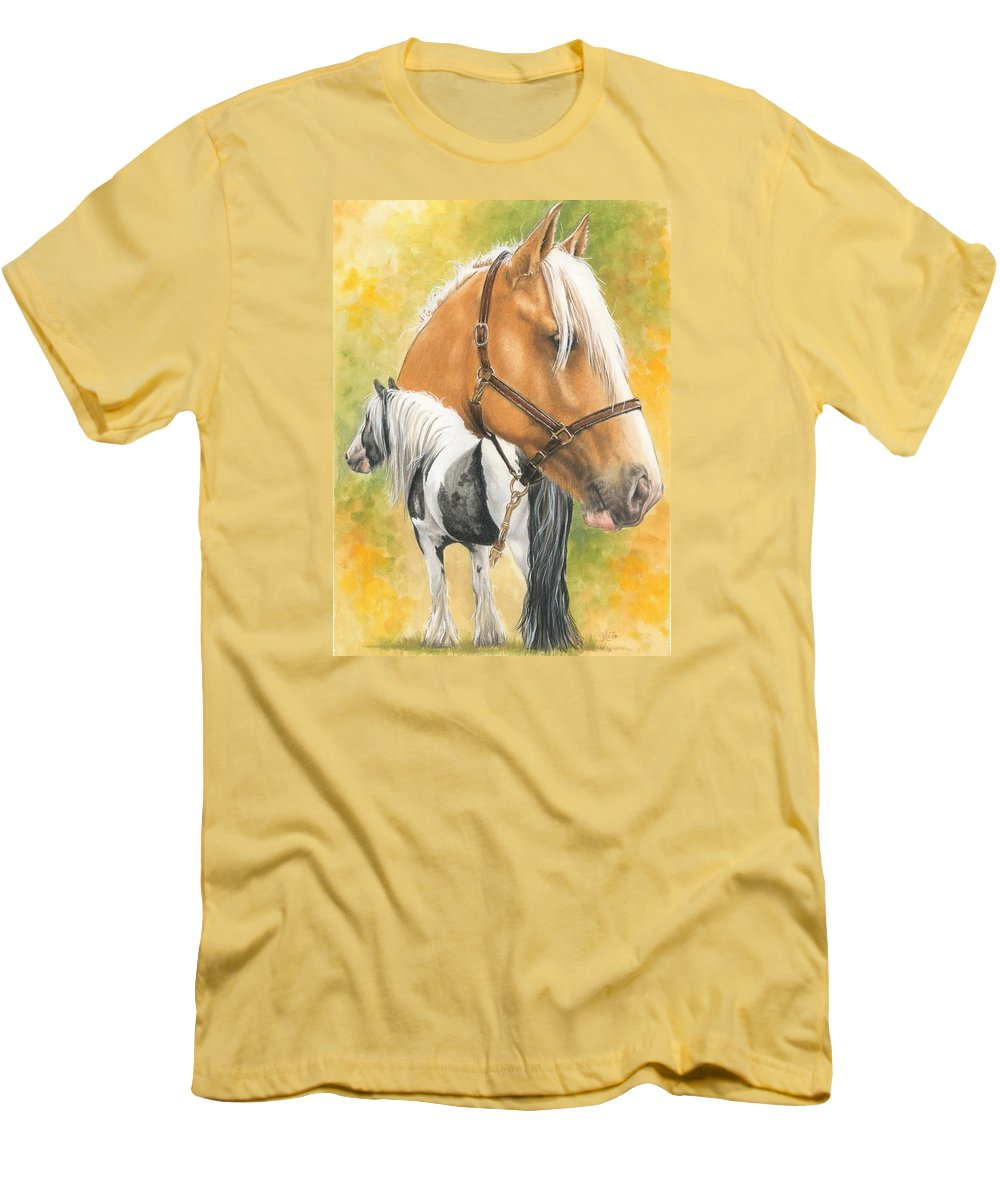 Draft Horse Men's T-Shirt (Athletic Fit) featuring the mixed media Irish Cob by Barbara Keith