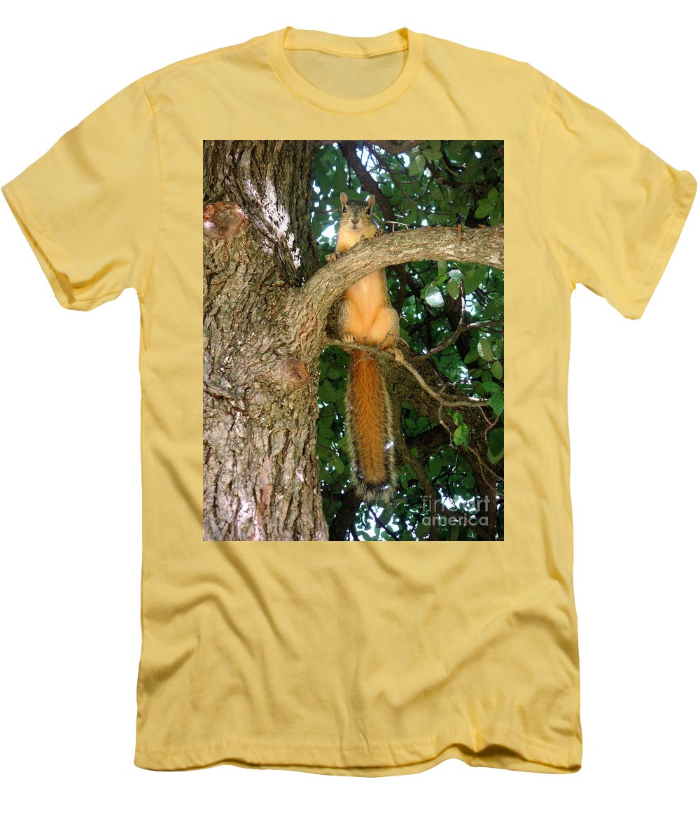Nature Men's T-Shirt (Athletic Fit) featuring the photograph Just Hanging Around by Lucyna A M Green
