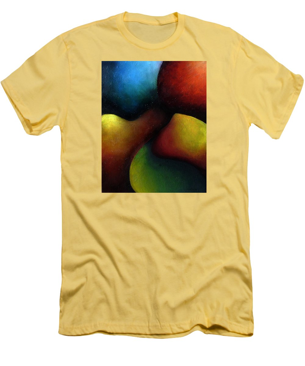 Fruit Men's T-Shirt (Athletic Fit) featuring the painting Life's Fruit by Elizabeth Lisy Figueroa