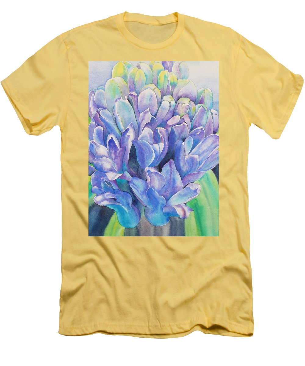 Flower Men's T-Shirt (Athletic Fit) featuring the painting Lovely Lupine by Ruth Kamenev