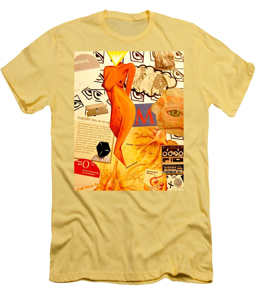 Luck Men's T-Shirt (Athletic Fit) featuring the mixed media Luck Of The Draw by A 2 H D