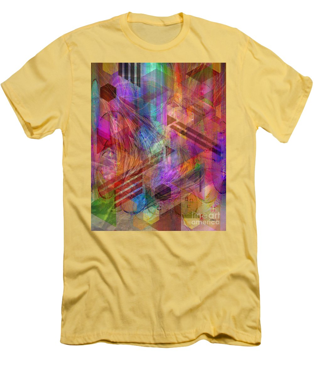 Magnetic Abstraction Men's T-Shirt (Athletic Fit) featuring the digital art Magnetic Abstraction by John Beck