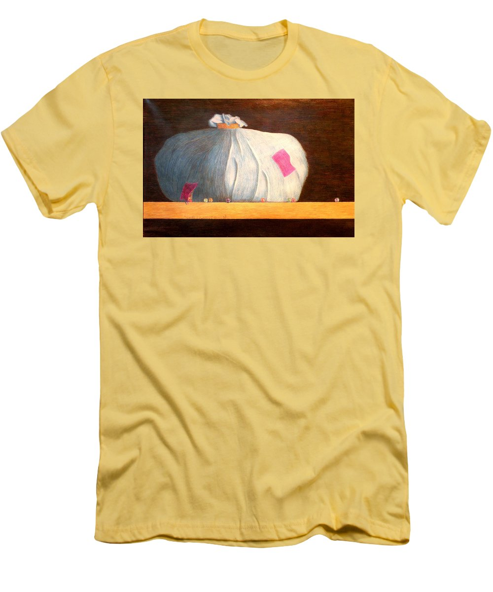 Still Life Men's T-Shirt (Athletic Fit) featuring the painting Mental Escapees by A Robert Malcom