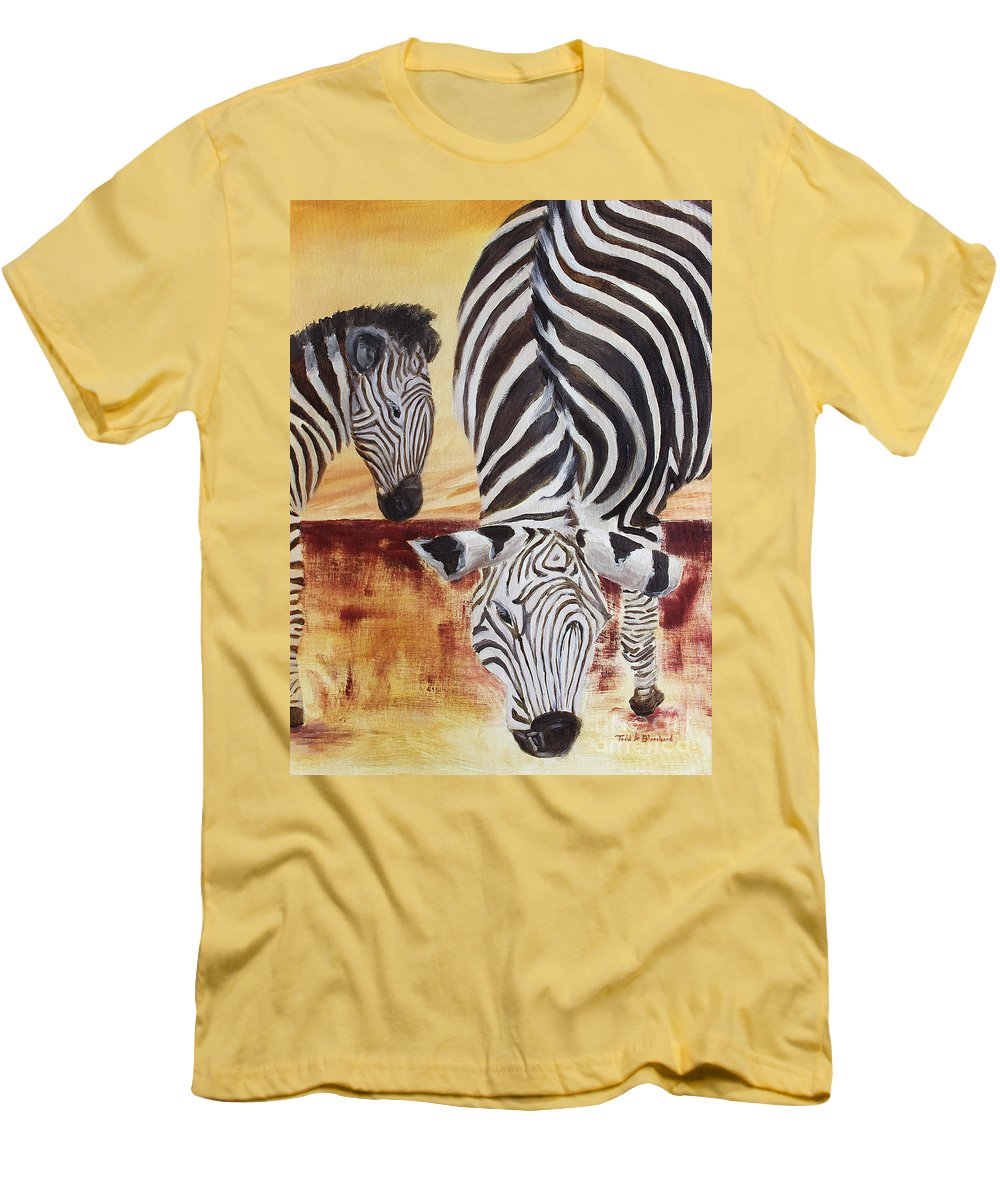 Animal Men's T-Shirt (Athletic Fit) featuring the painting Momma And Baby by Todd Blanchard