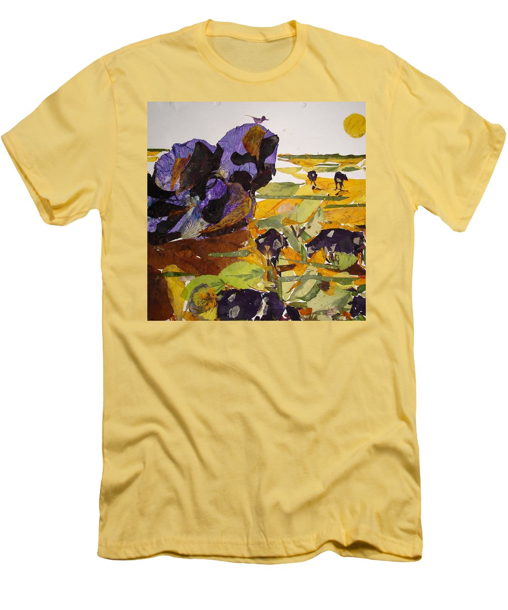 Glory Of Morning Men's T-Shirt (Athletic Fit) featuring the mixed media Morning Activities by Basant Soni