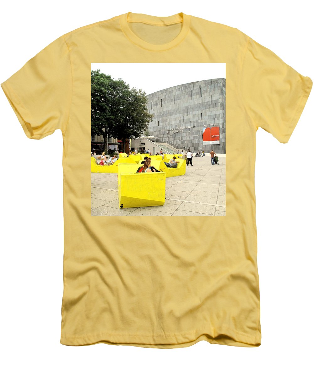 Museum Men's T-Shirt (Athletic Fit) featuring the photograph Museum Modener Kunst by Ian MacDonald