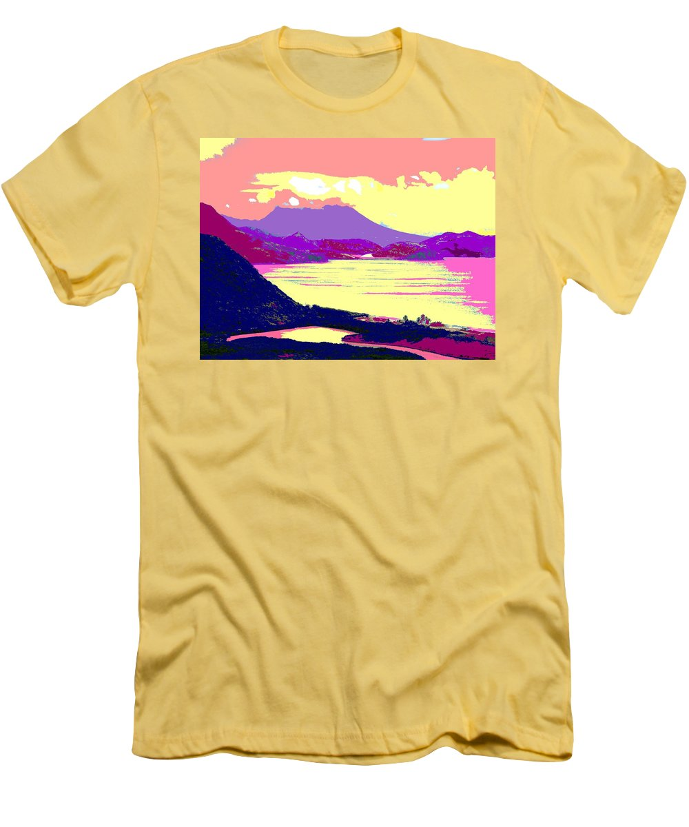 Nevis Men's T-Shirt (Athletic Fit) featuring the photograph Nevis From The Penninsula by Ian MacDonald