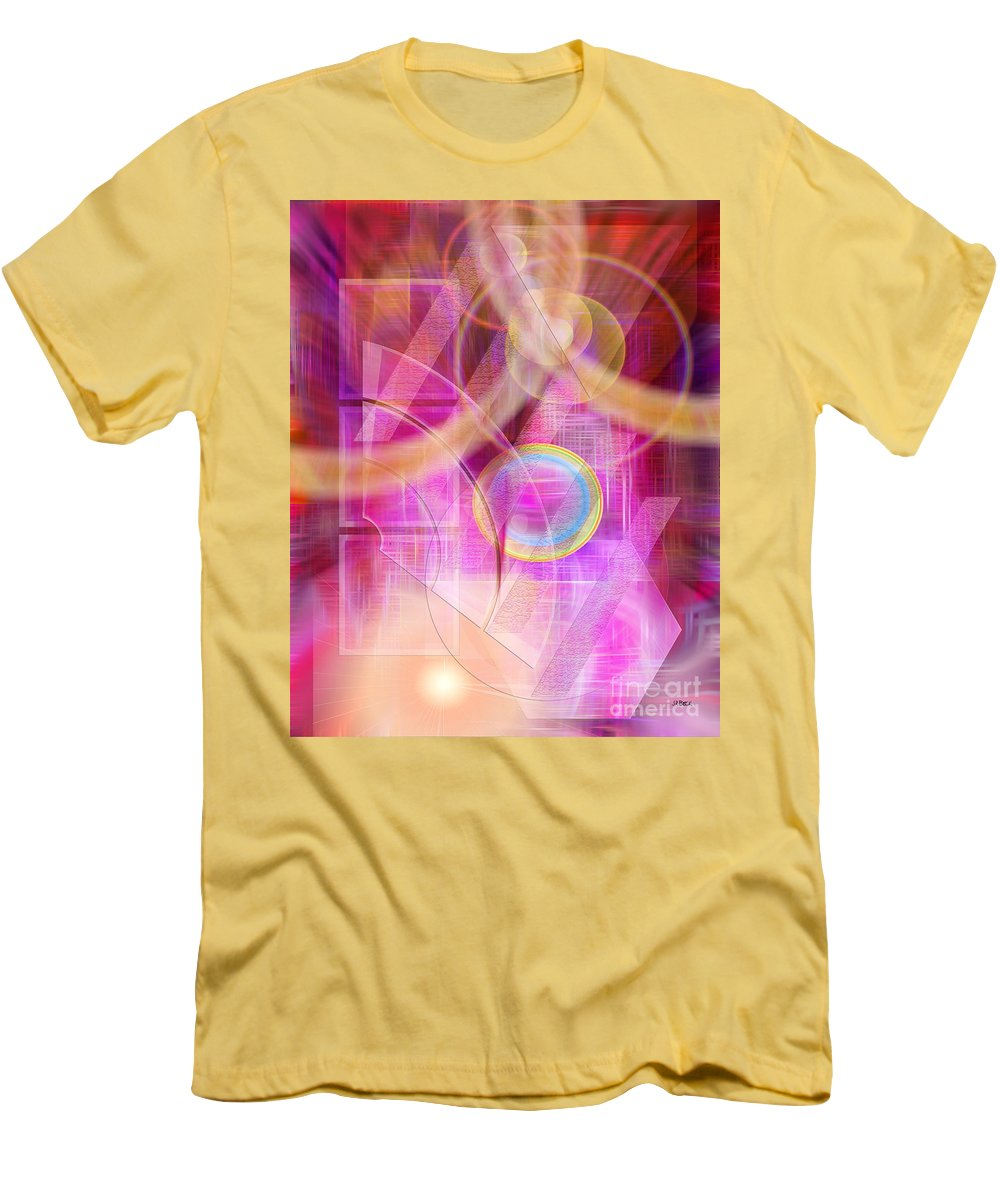 Northern Lights Men's T-Shirt (Athletic Fit) featuring the digital art Northern Lights by John Beck