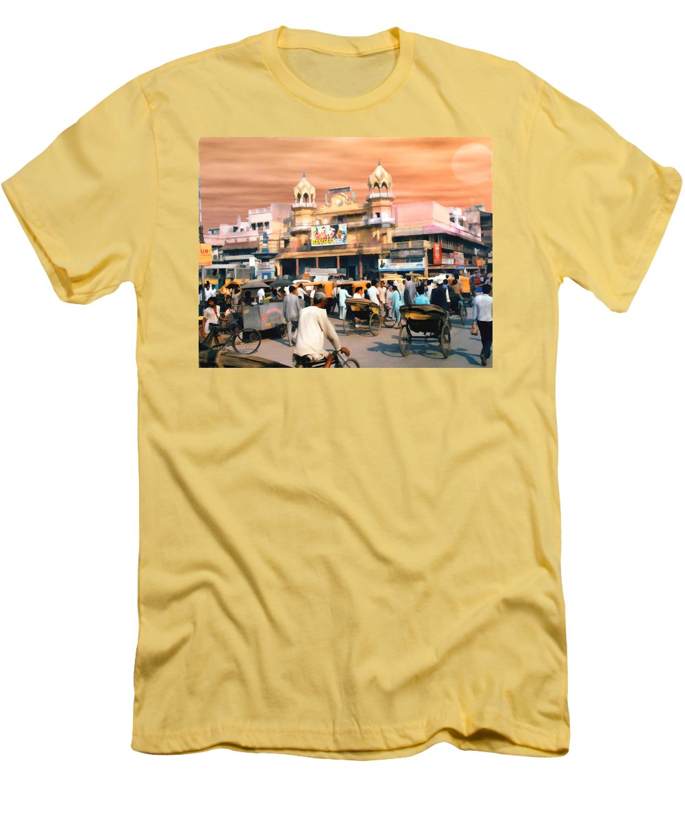 India Men's T-Shirt (Athletic Fit) featuring the photograph Old Dehli by Kurt Van Wagner