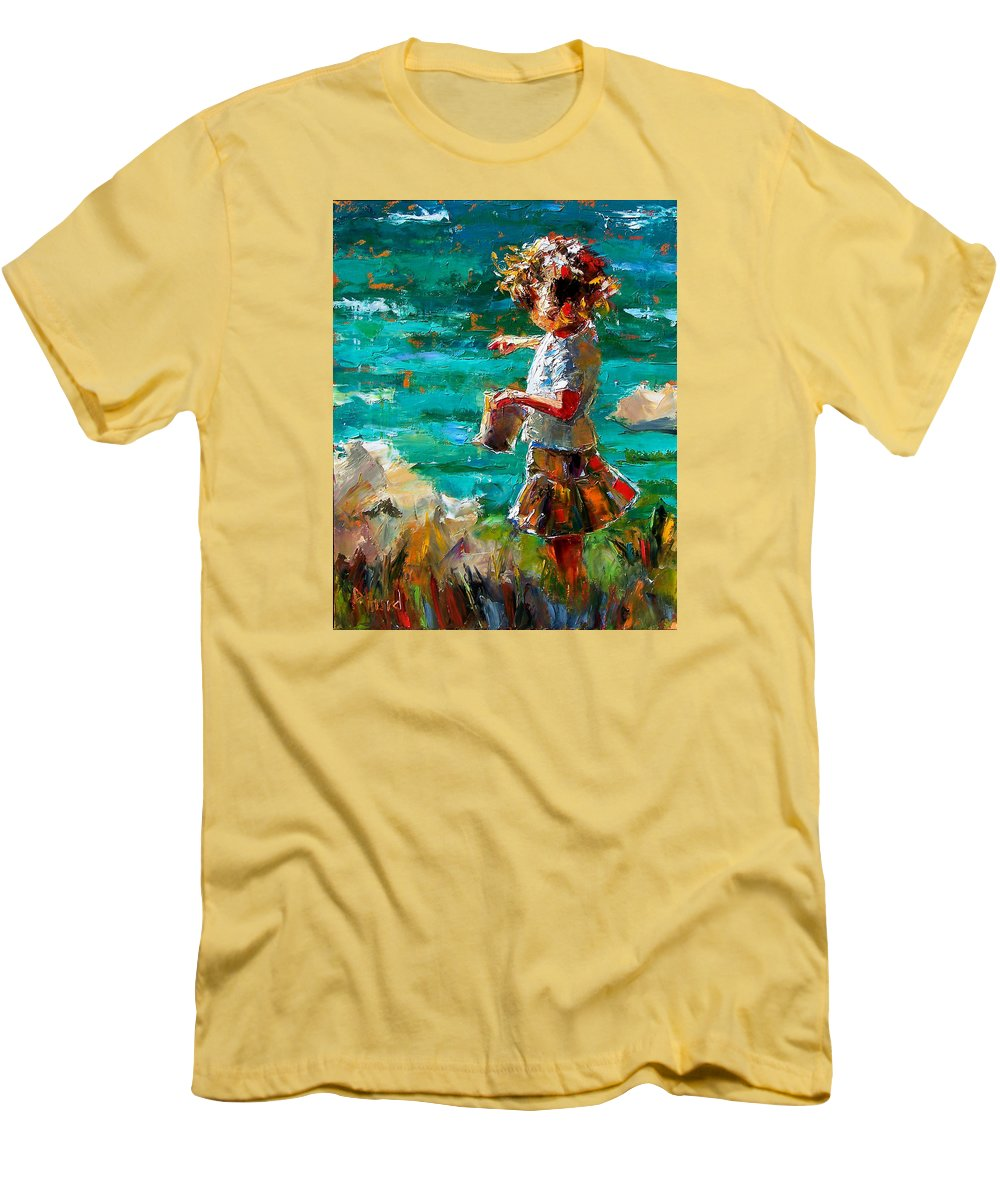 Children Men's T-Shirt (Athletic Fit) featuring the painting One At A Time by Debra Hurd