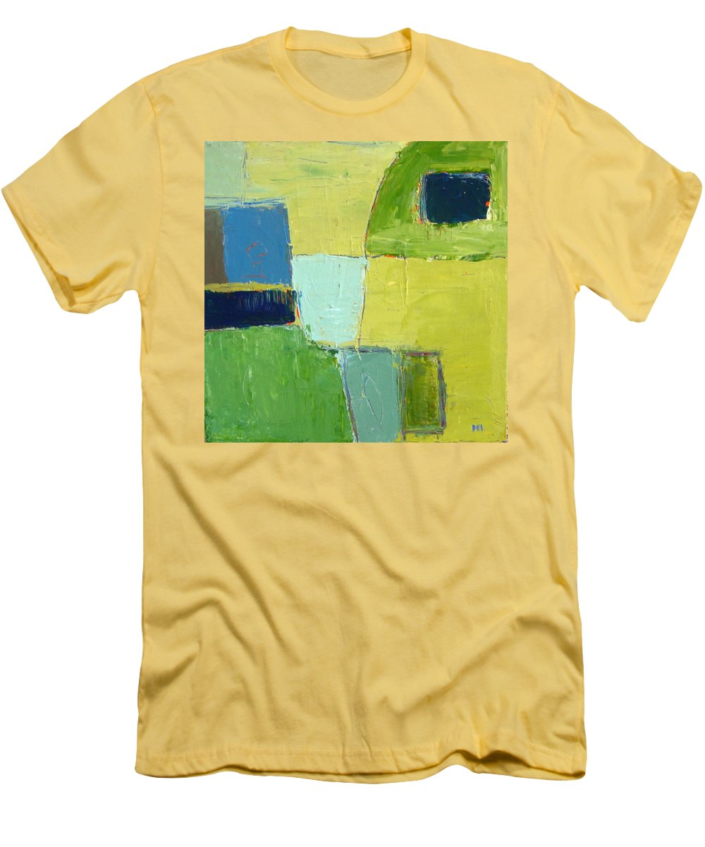 Abstract Men's T-Shirt (Athletic Fit) featuring the painting Peace 1 by Habib Ayat